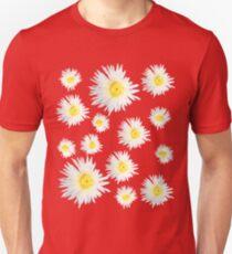 White Succulent Wildflower T-Shirt