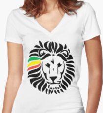 Lion Tuff Head Shirt mit V-Ausschnitt