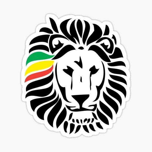 Lion Tuff Head Sticker