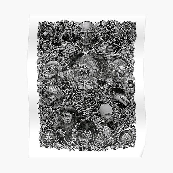 Attack on Titan season 4 the nine titans in one picture Poster