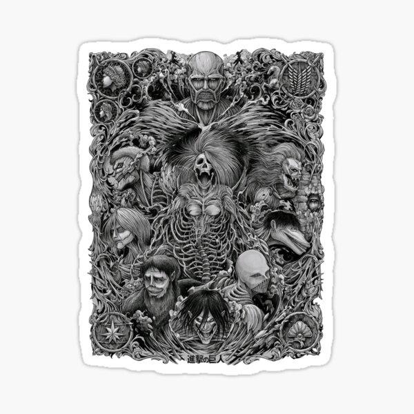 Attack on Titan season 4 the nine titans in one picture Sticker