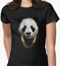 Panda_Large Womens Fitted T-Shirt