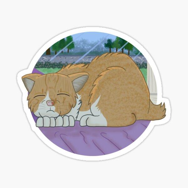Nap By The Window Sticker