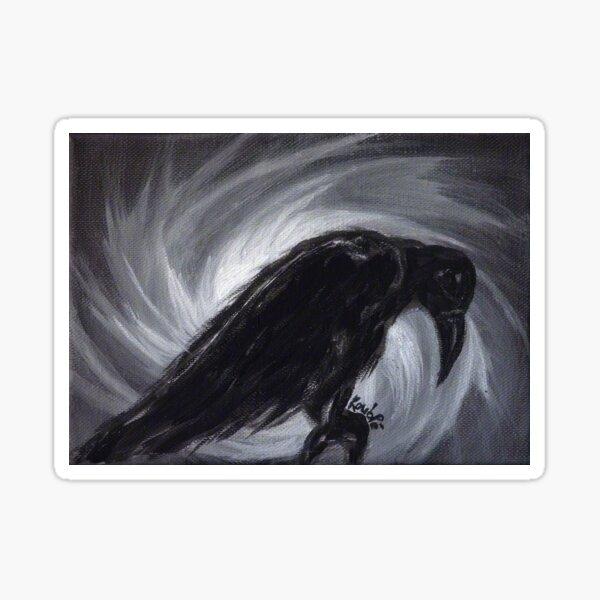 Dream the crow black dream. Sticker