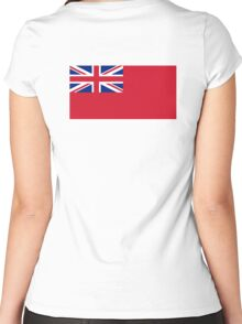 Red Ensign, NAVY, Merchant Navy, Flag, Red Duster, Royal Navy Flag,  Women's Fitted Scoop T-Shirt