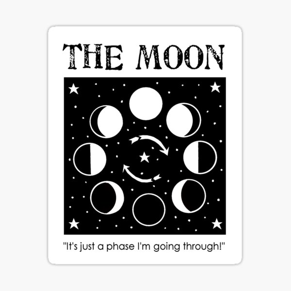 The Moon - just a phase I'm going through Sticker