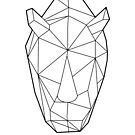 Wire Faceted Rhino by dotsan