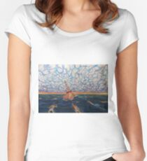 Sea Buoy...or the calling of drives  Women's Fitted Scoop T-Shirt
