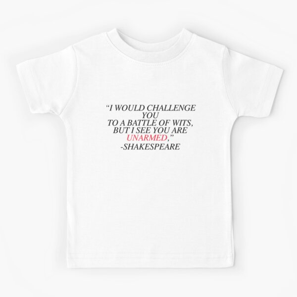 Shakespeare-Battle of Wits Kids T-Shirt
