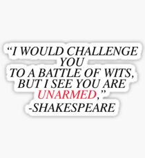 Shakespeare-Battle of Wits Sticker