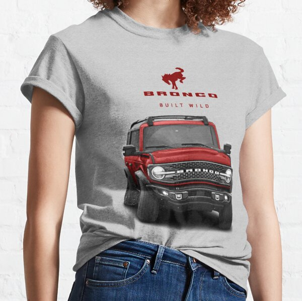 Bronco and Logo - Rapid Red Classic T-Shirt