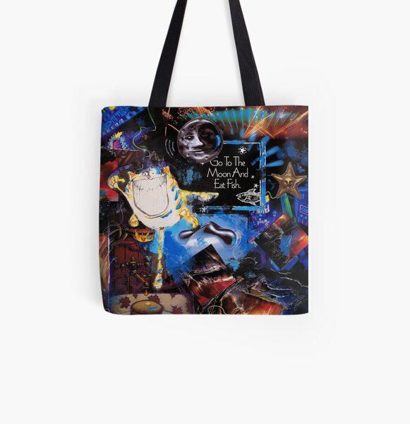 Go to the Moon All Over Print Tote Bag