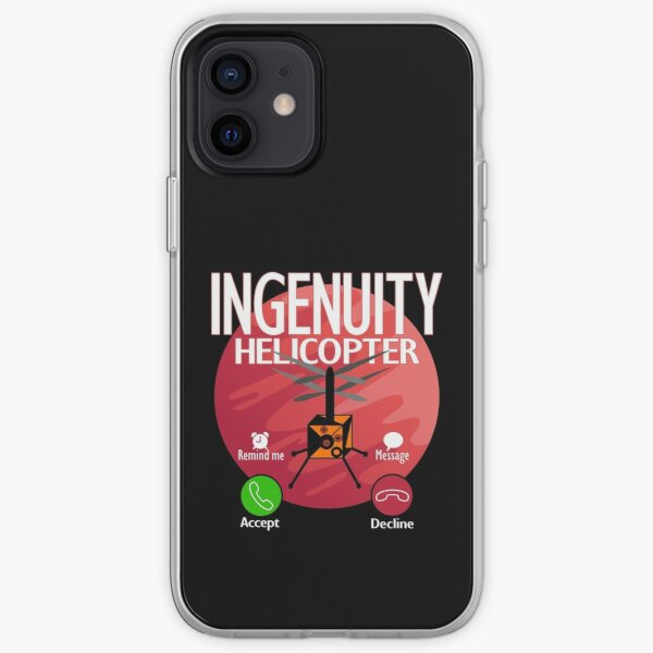 Perseverance Mars Rover Ingenuity Helicopter Phoned Home iPhone Soft Case