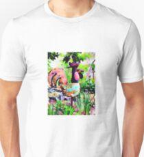 Metal Chicken Art T-Shirt