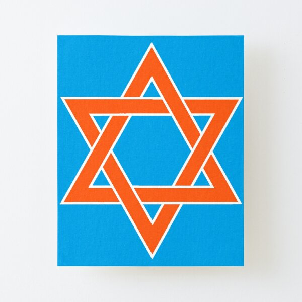Jewish,  ✡︎ #Star of #David #Clipart #StarOfDavid ✡︎ Canvas Mounted Print