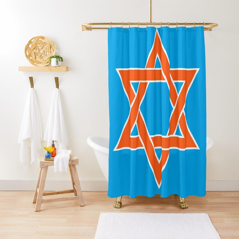 ✡︎ #Star of #David #Clipart #StarOfDavid ✡︎ Shower Curtain