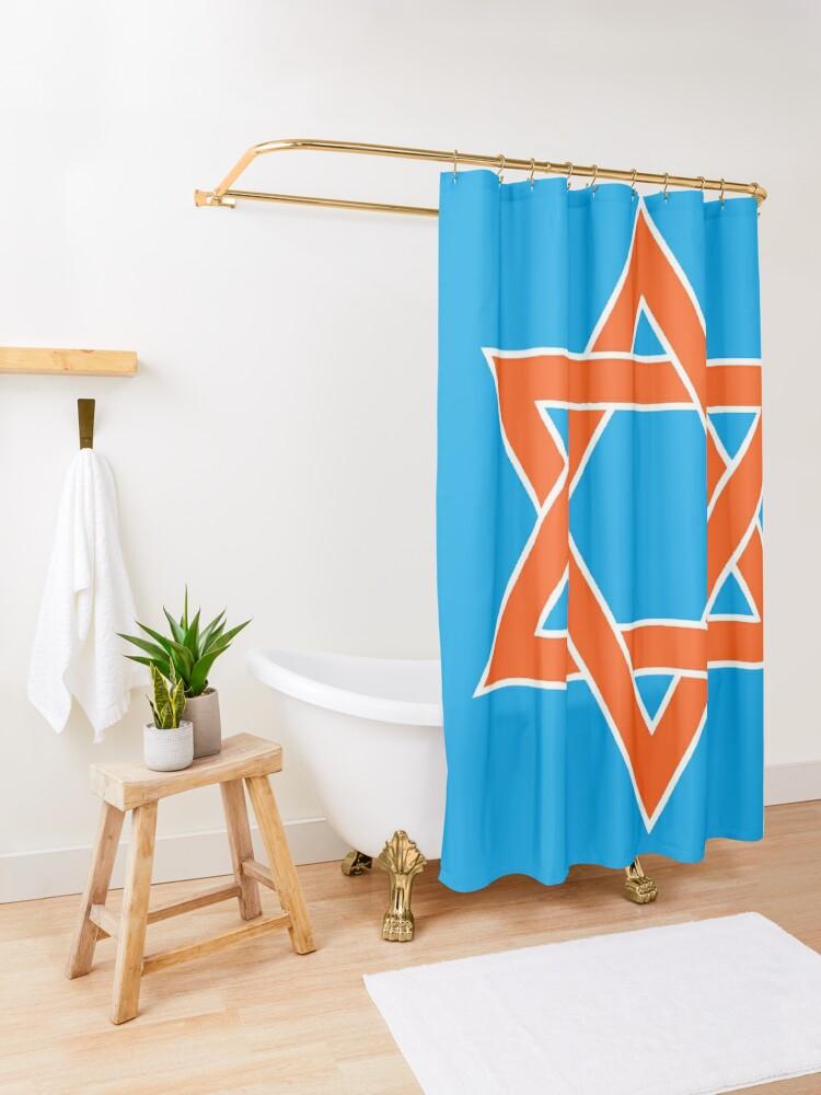 Alternate view of ✡︎ #Star of #David #Clipart #StarOfDavid ✡︎ Shower Curtain