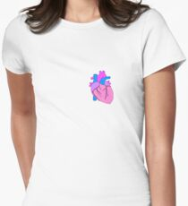 Heart Art Womens Fitted T-Shirt