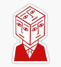 Cube Dude Sticker