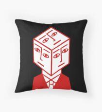 Cube Dude Throw Pillow