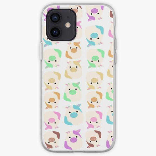 Rainbow cow pattern  iPhone Soft Case