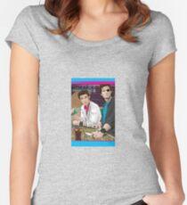 Carpenter Jack Burton & Snake Plissken Women's Fitted Scoop T-Shirt