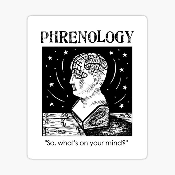 Phrenology - so, what's on your mind? Sticker