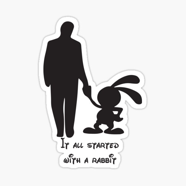 It all started with a rabbit. Sticker