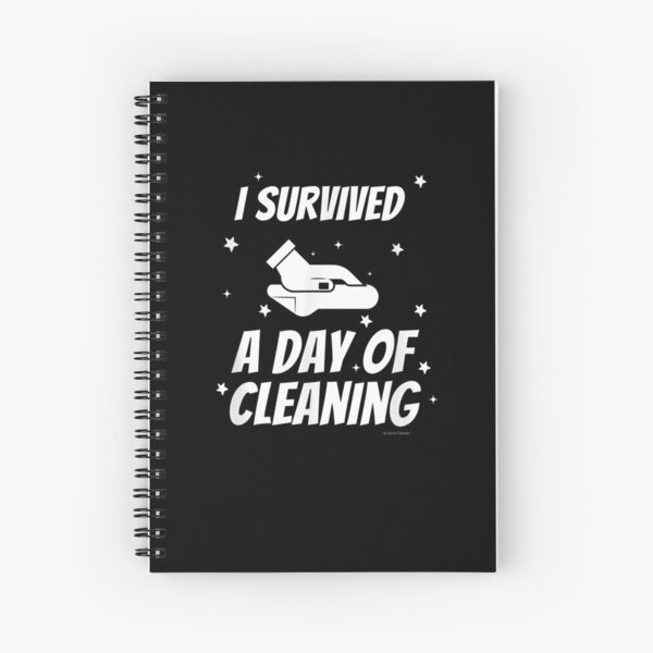 I Survived A Day Of Cleaning Crew Housekeeping Busy Mom Fun Spiral Notebook