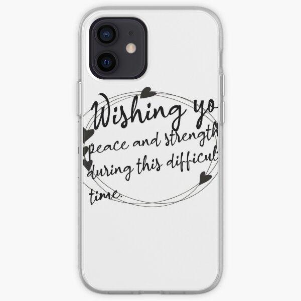 Sympathy Messages iPhone Soft Case