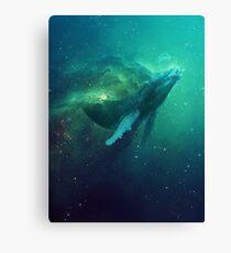 Cosmic Whale Canvas Print