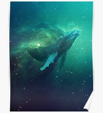 Kosmischer Wal Poster