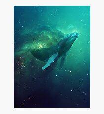 Kosmischer Wal Fotodruck