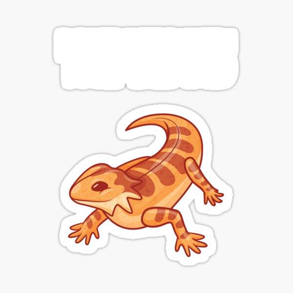 Bearded Dragon DONT MESS WITH THE BEARD Lizard Sticker