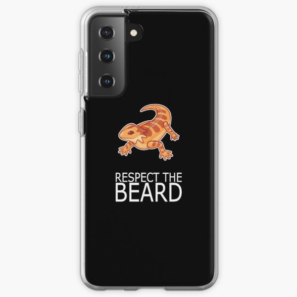 Bearded Dragon RESPECT THE BEARD Lizard Reptil Samsung Galaxy Soft Case