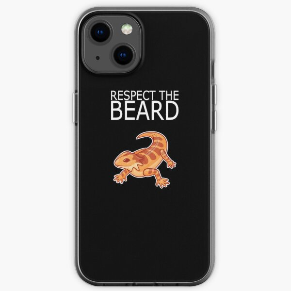 Bearded Dragon RESPECT THE BEARD Lizard Reptil iPhone Soft Case