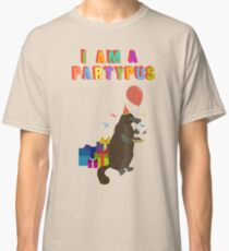 A platypus who loves to party Classic T-Shirt