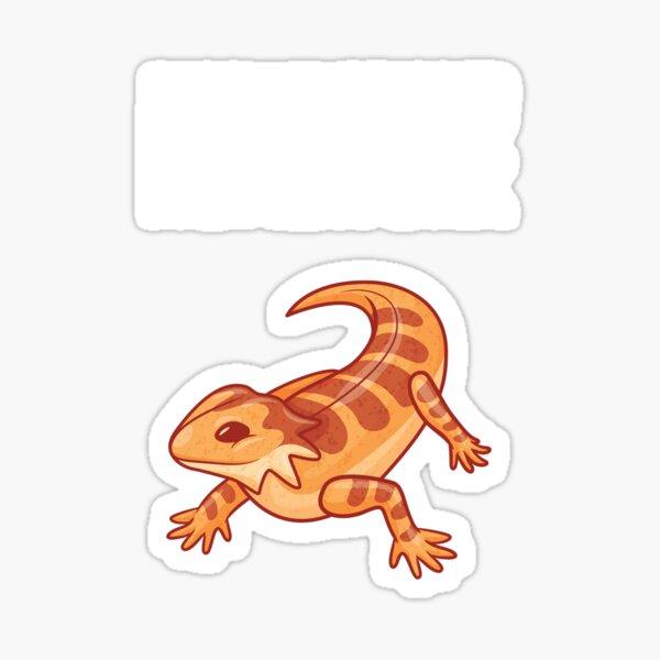 Bearded Dragon ATE MY HOMEWORK Lizard Reptil Gift Sticker