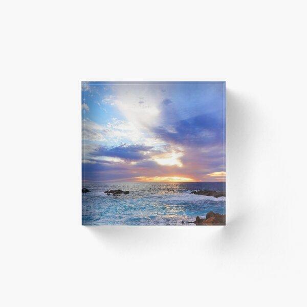 Dreamy Coastal Sunset Acrylic Block