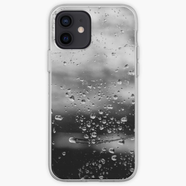 Water droplets on glass iPhone Soft Case