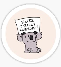 Totally Awesome Koala Sticker
