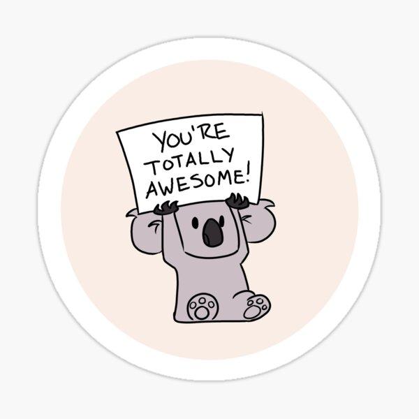 Koala totalement impressionnant Sticker