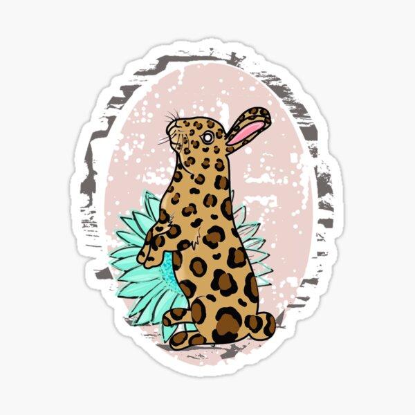 leopard bunny easter Sticker