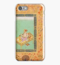 The Emperor Shah Jahan with his Son Dara Shikoh, Folio from the Shah Jahan iPhone Case/Skin