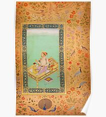 The Emperor Shah Jahan with his Son Dara Shikoh, Folio from the Shah Jahan Poster