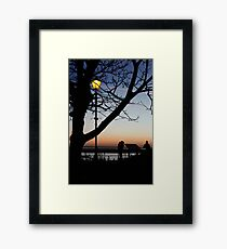 Sunset Landscape Framed Print