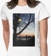 Sunset Landscape Womens Fitted T-Shirt