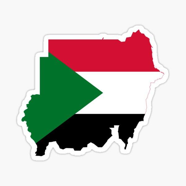 Flag Map of Sudan Sticker