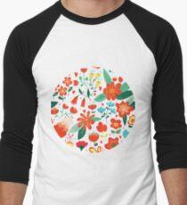 Cute flowers for Valentines Day Men's Baseball ¾ T-Shirt