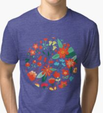 Cute flowers for Valentines Day Tri-blend T-Shirt
